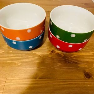 Serving multi color dots bowl cereal dining